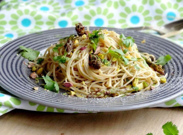 Spaghetti de kamut® aux asperges, citron et coriandre