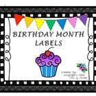 "Bulletin board birthday headers, birthday month labels, and ""frames"" for writing in students' birthdays.  This will allow you and your students to ..."