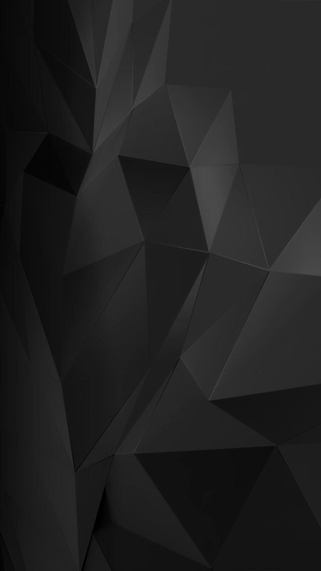Black Crystal Iphone Wallpaper Geometric Pinterest