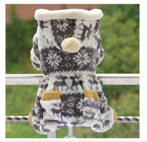 Autumn Winter Christmas Snowflake Dog Clothing Coats Dog Jacket Sweater Clothes | eBay