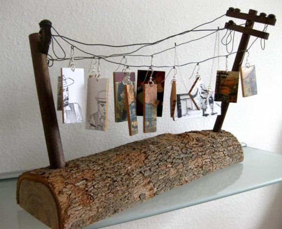 Telephone Pole Adornment Display Small Log 2 by chantaldefelice.  Awesome.