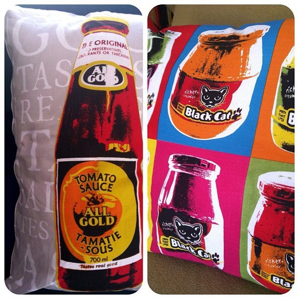 Iconic South African brands hijacked for quirky cushion images