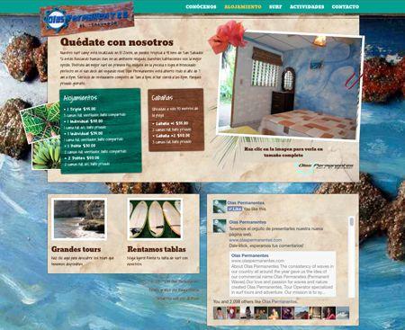 sitio web de olas permanentes, página de alojamiento. 2014. ®raquel marón estudio creativo www.olaspermanentes.com