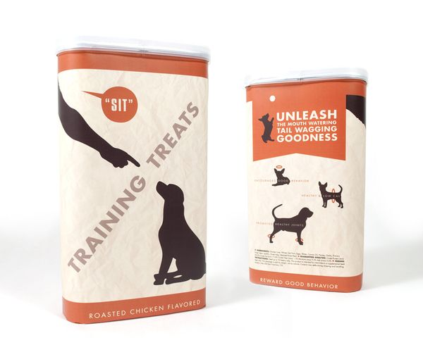 Dog Treat Packages by Lisa Kent, via Behance