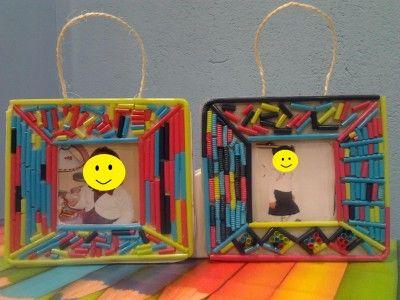 Manualidades con pajitas de colores buscar con google - Manualidades con papel de colores ...
