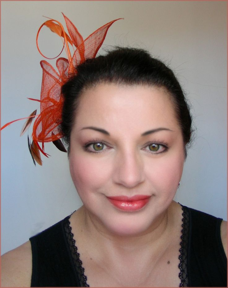 BIBI-CHAPEAU COCKTAIL - LIN ORANGE ET PLUMES - MARIAGES, CÉRÉMONIES, SOIRÉES : Chapeau, bonnet par ladyplazza
