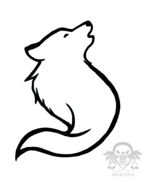 Simple Wolf Lineart : Best simple wolf tattoo ideas on pinterest
