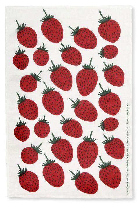 marimekko Strawberry print