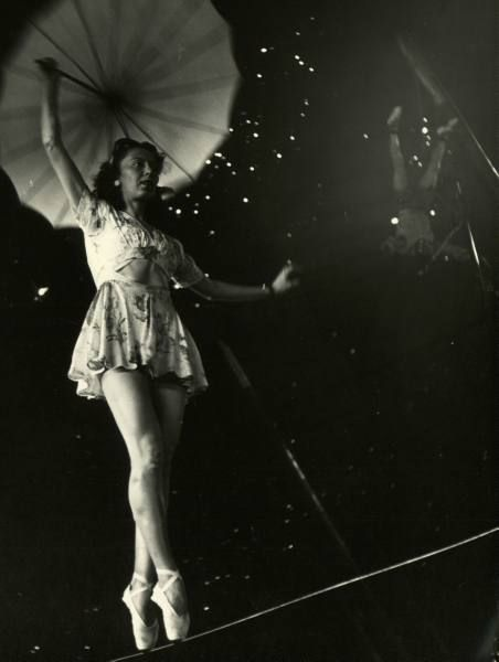 Tight-rope walker. #circus #vintage #night