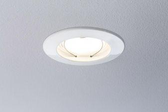 Paulmann LED-Einbauleuchte 3er Set 20.4 W Warm-Weiß Coin 92721 Weiß