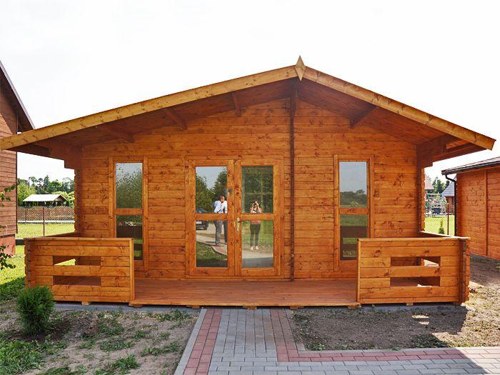 Domek Drewniany Letniskowy Z Bala Do 35m Producent 7204023392 Oficjalne Archiwum Allegro House Styles House Outdoor Structures