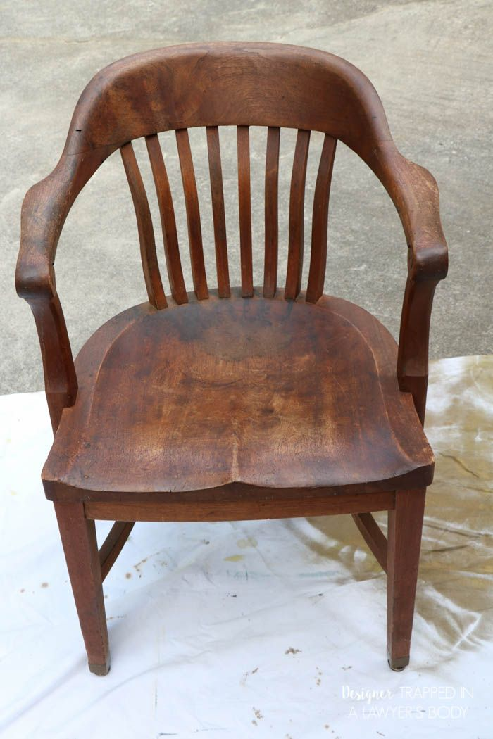 Learn how to refinish wood chairs without