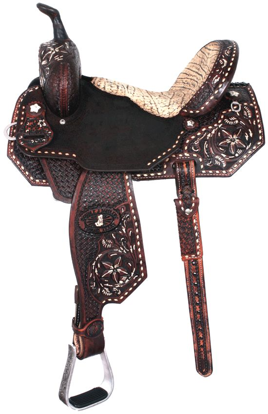 Wow some serious bling on these saddles! Double J Saddlery