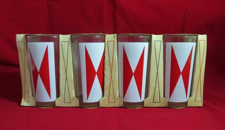 Vtg 1963 Phillips 66 Gas Station Giveaway Anchor Hocking Glasses Set of 4 NIB  #AnchorHocking #BowtieTumblers