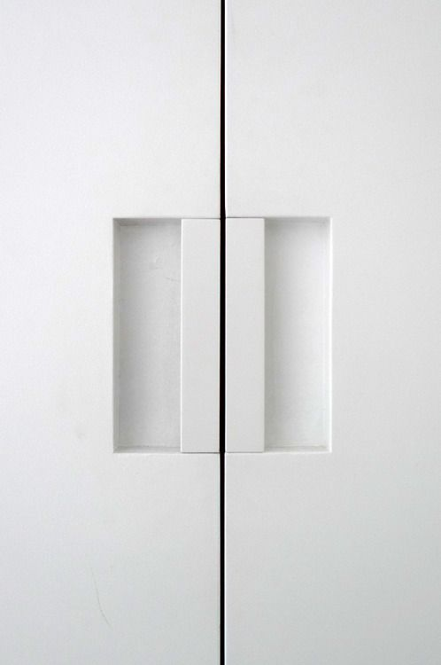 flush door pulls. min line, d door pull coated white by ftf design studio _ flush pulls
