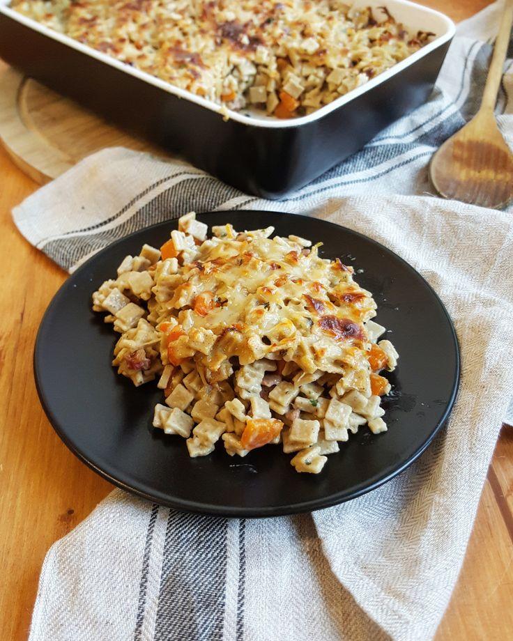 gratin de crozet a la cancoillotte bacon et carotte