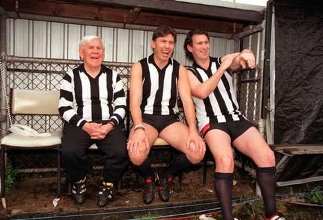 Three of the best - Lou Richards, Denis Banks & the macedonian marvel Peter Daicos.