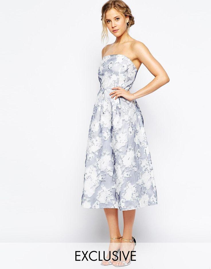 True Decadence Structured Organza Midi Prom Dress
