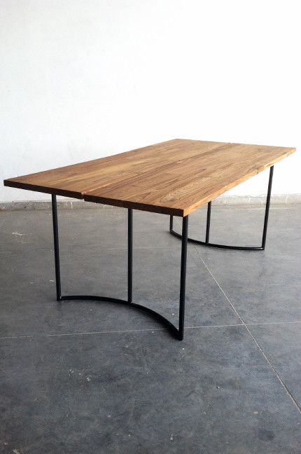 Reclaimed Teak Dining Table and Bench