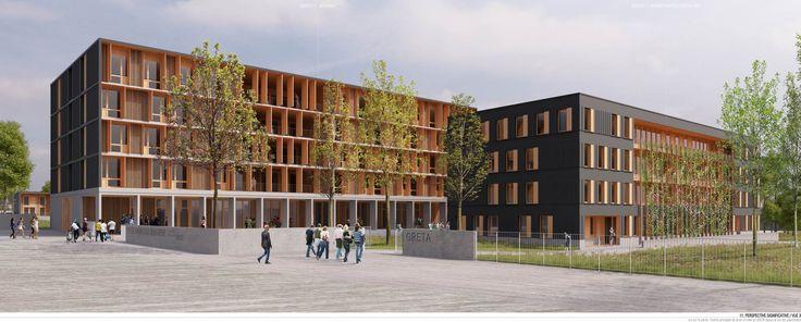 Reconstruction des batiments A, D et E du lycée Ambroise Brugière - Clermont Ferrand - Puy de dome