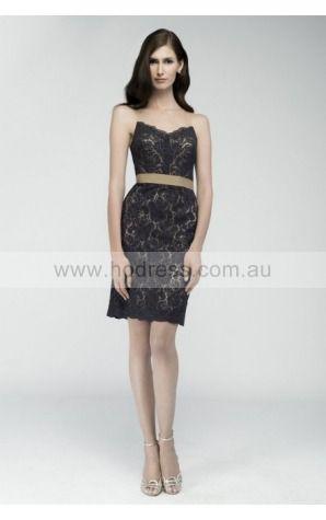 Sleeveless Strapless Knee-length Lace Formal Dresses b1400322--Hodress