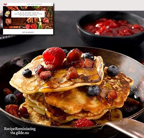Granola Pancakes with Bacon / Müslipannekaker med Bacon