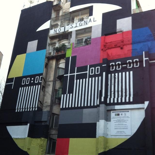 Athens is alive. Art in the city centre kriezotou & panepistimiou corner