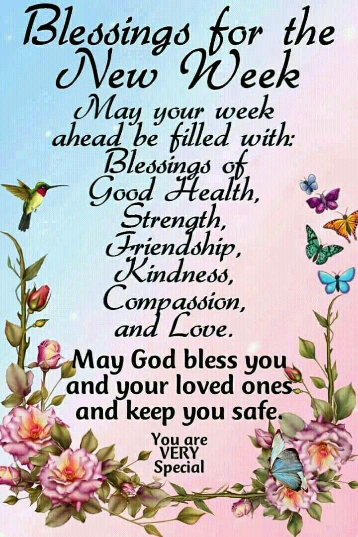 New Week Blessingsj Sunday Morning Greetings Quotes Good