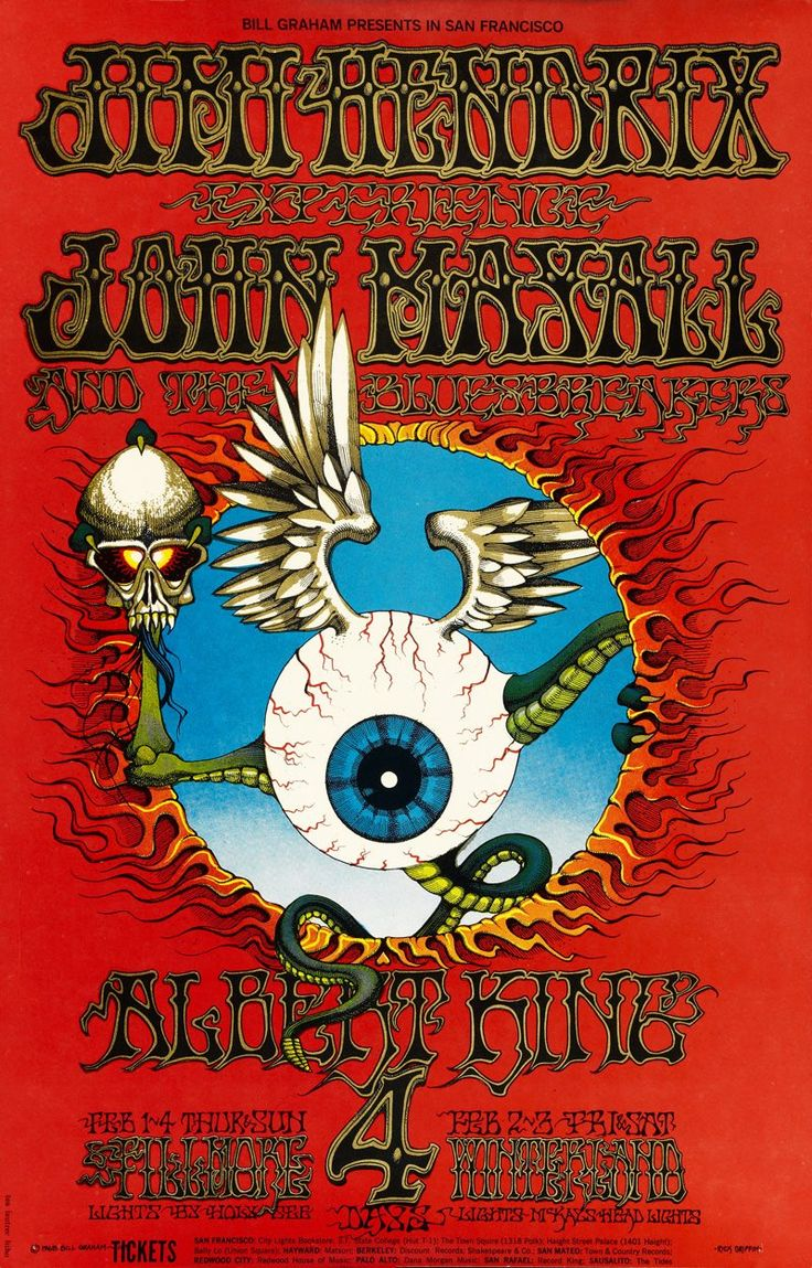 68 Fillmore Jimi Hendrix Experience John Mayall