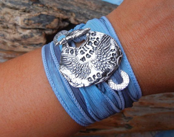 Not All Who Wander Are Lost, Inspirational Quotes Silk Wrap Bracelet by HappyGoLicky