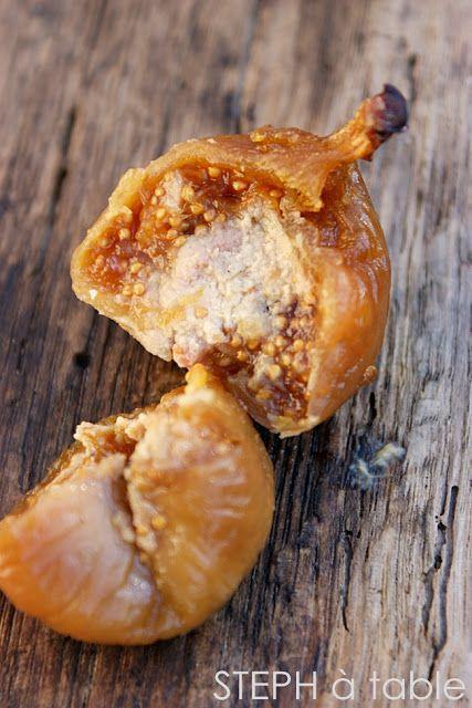 Recettes apéritif de Noël #2: Figues pochées au Monbazillac, cœur de foie gras | Stephatable