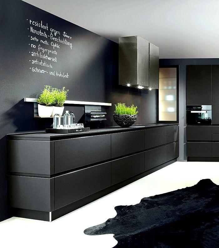 trends woonkamer : Stunning black kitchen design, kitchen trends ...