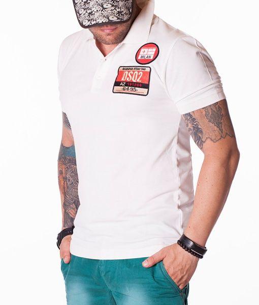 Dsquared Tricouri Polo - DSQ2 Tag tricou polo alb