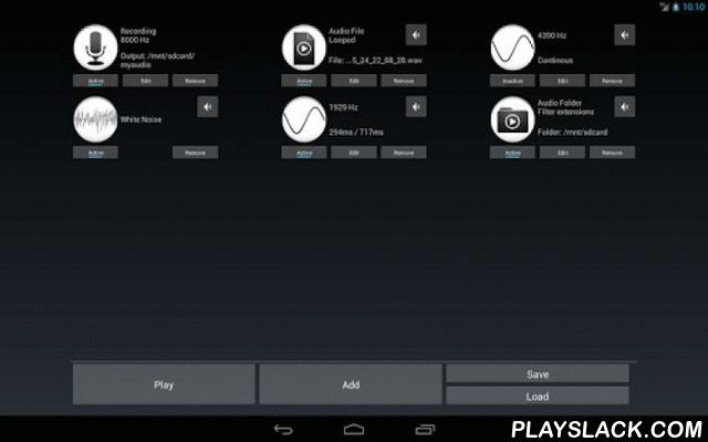 Audio Blend Tool Free  Android App - playslack.com , Blend various audio sources into one with this tool. This app supports audio folders/files/tone generators/white noise + echo/recording.Notice: The more items you use the more performant device you need.With this audio tool you can blend following sources (more than once):★ Music / sound file - single file to play.★ Music / sound folder - folder with files to play in order, randomly or looped (+ filter audio files by extensions).★ Tone…