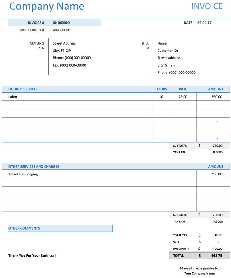 Best Excel Business Invoices Images On Pinterest Invoice - Business invoice template