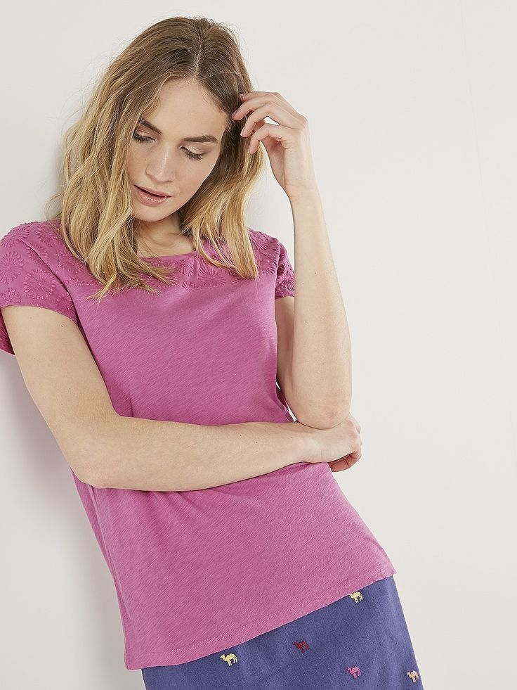 Womens amethyst forest orchid tee from White Stuff - £32.50 at ClothingByColour.com