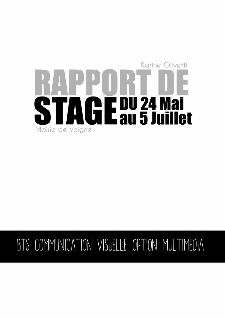 Rapport de stage Mai-Juin-Juillet 2012