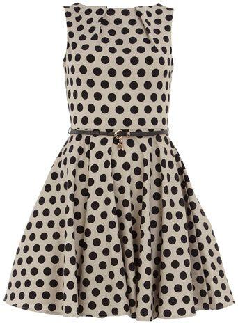 polka dot dress from dorothy perkins. adorable.