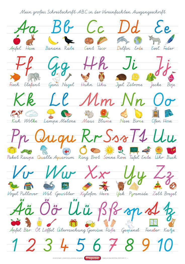 Poster vom Spielend Lernen Verlag - Vereinfachte Ausgangsschrift