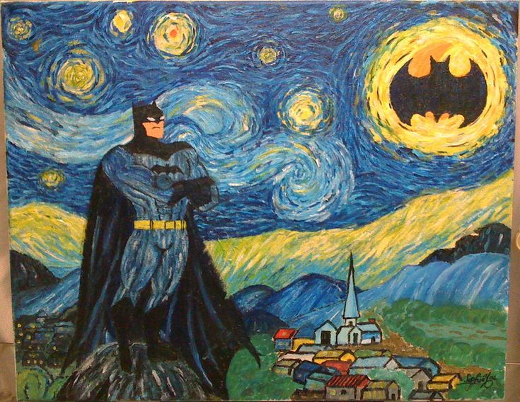 Calling on Batman on a beautiful starry night by sophiyou.deviantart.com on @deviantART