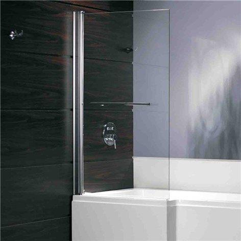 Kombinert badekar og dusj. Får den bredeste delen plass ved siden av servanten?
