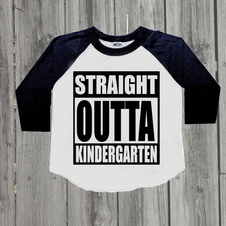 Kindergarten graduation shirt. Straight Outta Kindergarten. Kindergarten nailed it. Last day of school shirt. Last day of kindergarten shirt