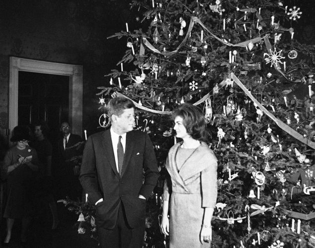 Photos of Christmas at the White House with President John F. Kennedy.    The 35th President of the United States is seen here during his first Christmas season in office with First Lady Jacqueline Kennedy. On Dec. 13, 1961, the pair hosted a pre-Christmas party for White House staffers and their families.