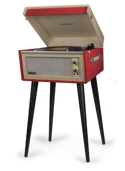 Look at this thing! This gorgeous Dansette reproduction totally negates the need for a record player stand - and will make your living room about 1000x more swank. It also can be removed from the legs