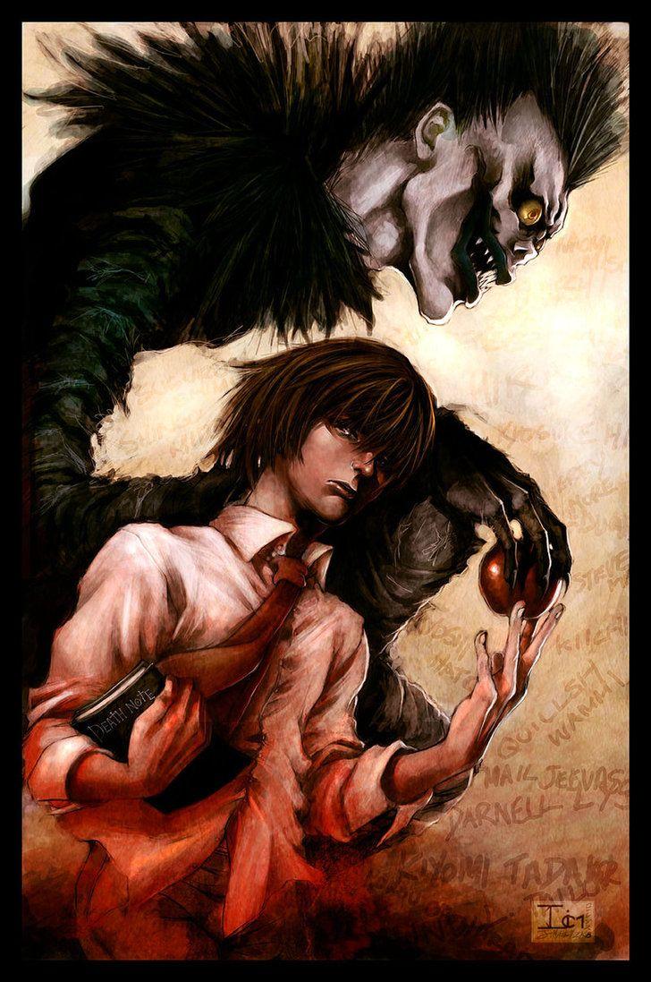 Light Yagami and Ryuk.