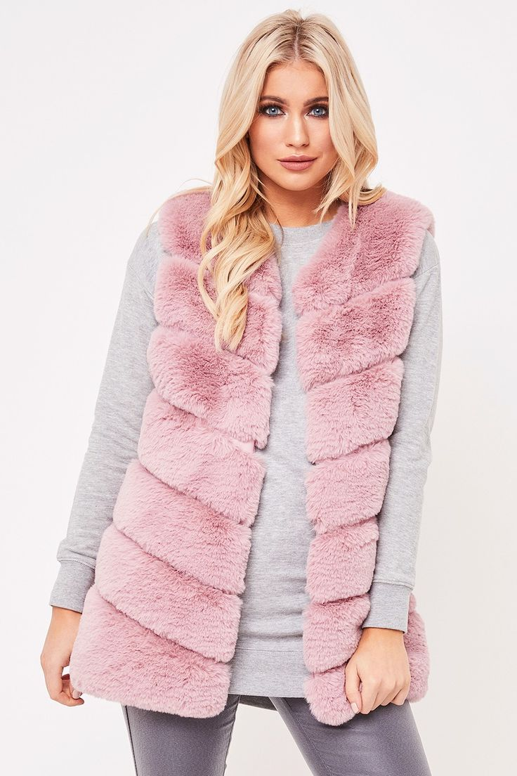 Fiona Pink Faux Fur Gilet