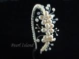Handmade large freshwater pearl side tiara: www.pearlisland.co.uk