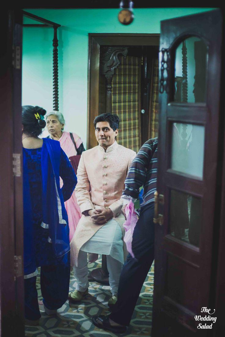 Pensive Groom | Fort Wedding | Photo by The Wedding Salad