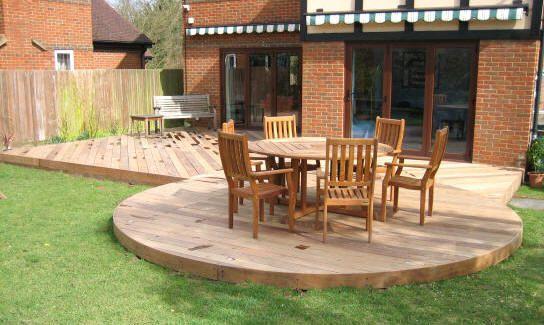Terrasse bois ronde