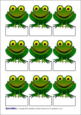 Pupil self-registration frogs (SB1796) - SparkleBox
